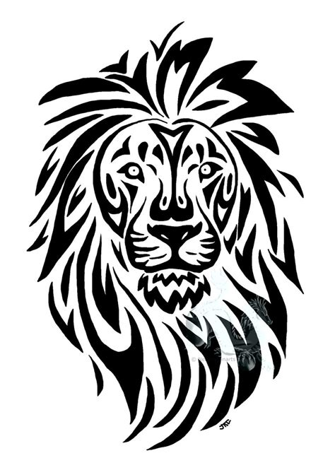 cool lion tattoo designs tribal by neodragonarts on deviantart