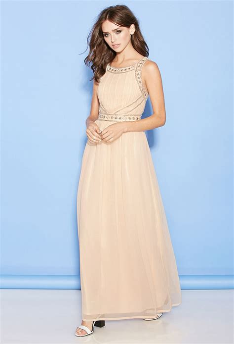 beaded blush dress beaded chiffon maxi dress forever21 50 blush mint