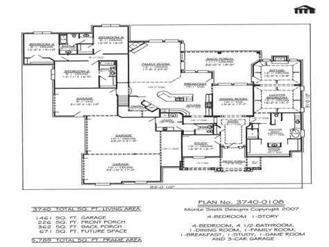 House Plans With Garage On Side by Garage 4 Bedroom House Floor Plans House With Garage On