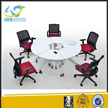 modern office foldable oval meeting table for five person