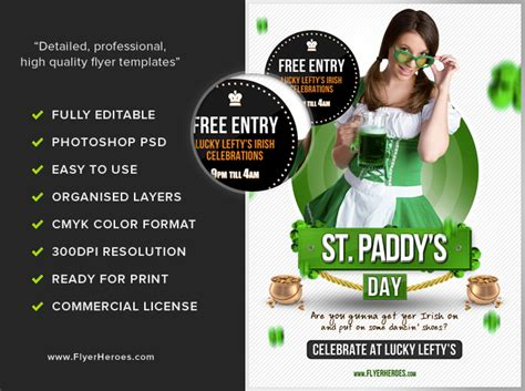 st patrick s day flyer psd template free download 5810 styleflyers