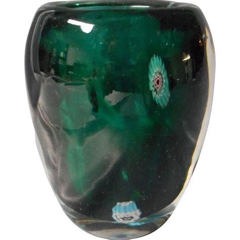 millefiori vase vintage glass vase millefiori design from