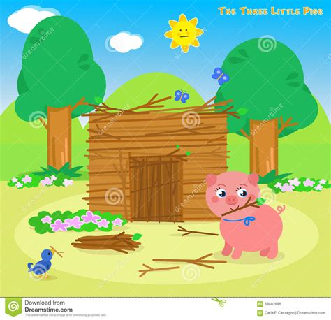Three Story Home Plans by The Three Little Pigs 5 The Sticks House Stock Vector