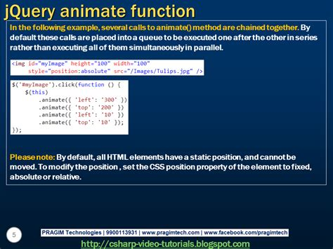 tutorial jquery animate sql server net and c video tutorial jquery animate