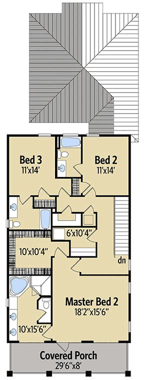 two master bedrooms 63201hd architectural designs coastal cottage with 2 master suites 51716hz