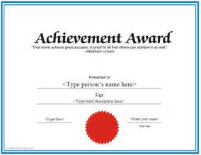 achievement certificate templates free templates for certificates of achievement http