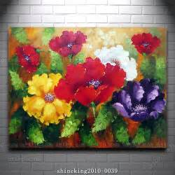 decoration painting huge beautiful flower oil painting modern art canvas