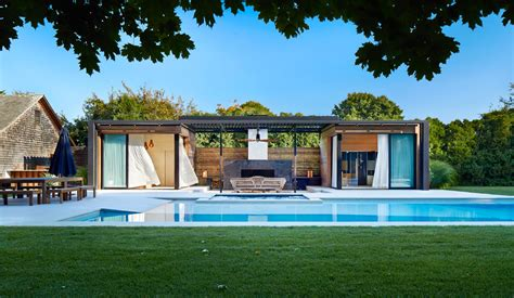 modern small pool house floor luxurious indoor and outdoor oasis pool house by icrave digsdigs