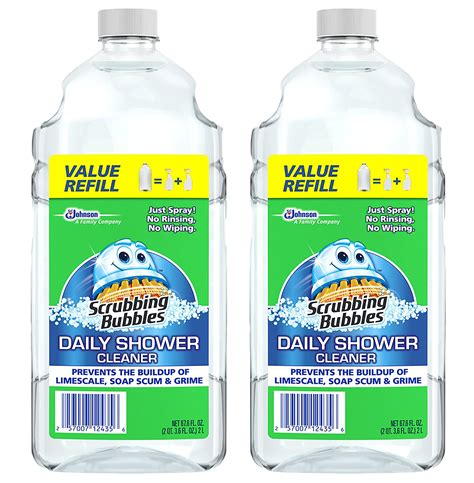 Best Daily Shower Cleaner Spray by 2 Pack Scrubbing Bubbles Bathroom Daily Shower Cleaner