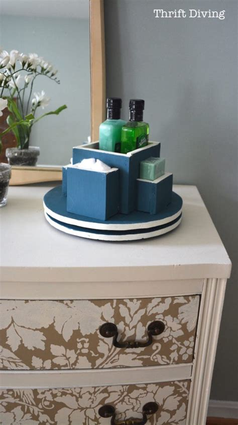 bathroom lazy susan beat the stink with this bathroom diy lazy susan thrift