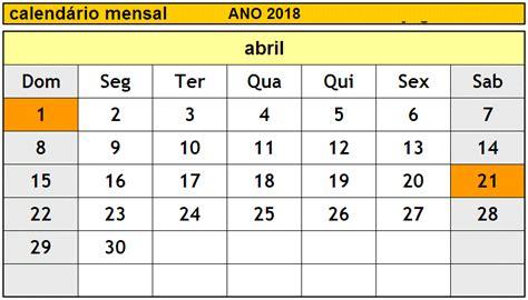 Calendario Abril 2018 Calendario 2018 Abril Free Printable Calendars