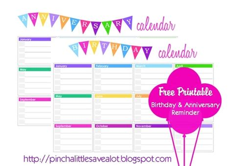 6 best images of printable birthday list calendar free