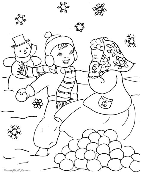 free coloring pages winter scenes winter scene coloring pages coloring home