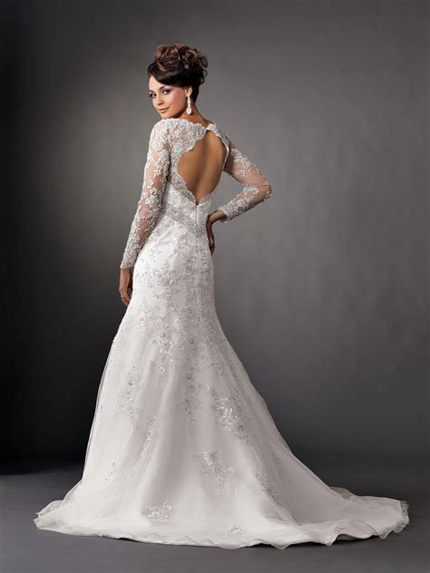 Wedding Dresses With Sleeves by Photos Of Beautiful Mermaid Wedding Dresses With