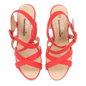coral colored sandals womens coral cross wedge sandals
