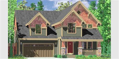 narrow lot craftsman style house plans new craftsman house