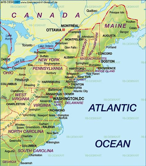 map us east coast major cities cing east coast usa east coast map of the