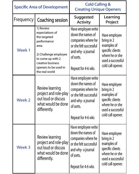 Coaching Plan Exles Coaching Plan Template