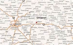 wilson county map lebanon tennessee location guide