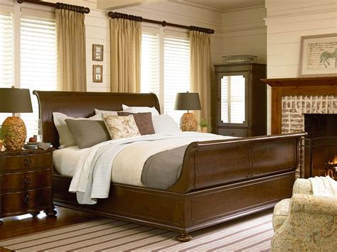 river house collection river house sleigh bed bedside