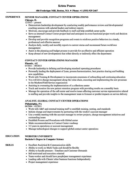 Resume Operations Manager Call Center enterprise risk management resume verbiage for customer