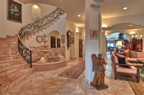 Spanish Home Interiors by Precious Beach Front Mediterranean Mansion 10