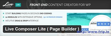 page builder for wordpress 100 free plugin livecomposer 15 best wordpress drag drop page builder plugin 2015