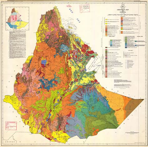 geological map of large detailed geological map of large