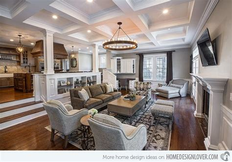 15 interiors with high ceilings home design lover 15 beautiful traditional coffered ceiling living rooms