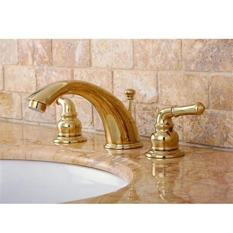 brass bathroom sink faucets shop kingston brass concord polished brass 2 handle widespread bathroom sink faucet at lowes