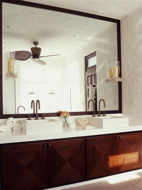 oversized bathroom mirror photo page hgtv