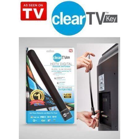top clear tv key hdtv free tv digita l indoor antenna ditch cable as seen on tv walmart
