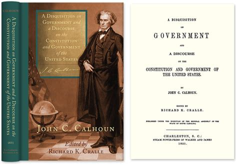 a disquisition on government books a disquisition on government and a discourse on the