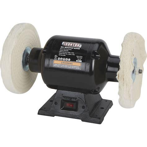bench top buffer free shipping ironton benchtop buffer 3 4 hp 8in dia wheel northern tool