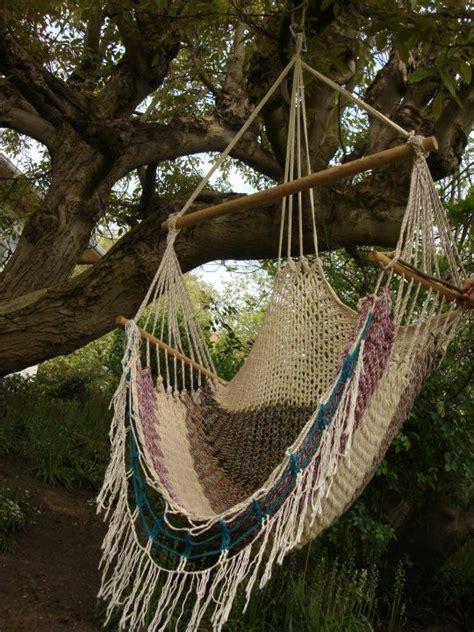 vintage macrame hammock swing chair   outdoor indoor   stock mod minimalist
