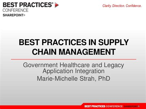 best practices in supply chain management sharepoint