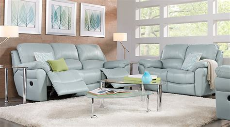 leather living room suites vercelli aqua leather 2 pc living room leather living rooms blue
