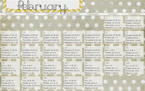Bible Calendar Free Printable Bible Reading Plan