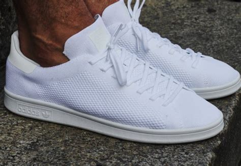adidas stan smith primeknit triple white sneakers actus
