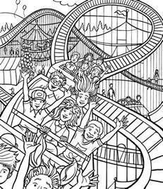 Roller Coaster Coloring Page roller coaster coloring page vbs sunday school ideas inspiration