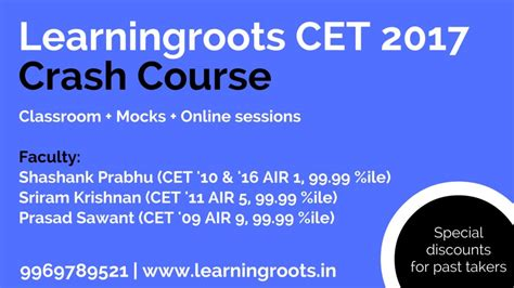 Learning Roots Mba by Mba Cet 2017 Crash Course