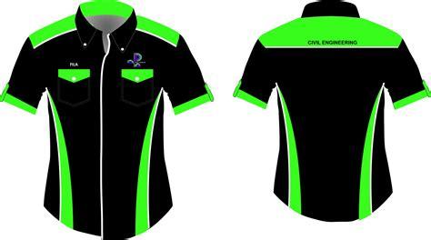 design baju club motor kemeja korporat custom made creeper design