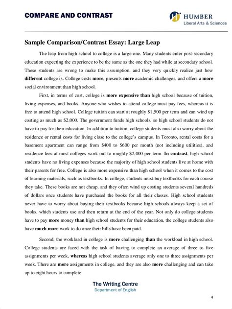 how to start a compare and contrast essay build the framework
