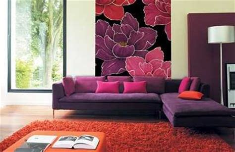 purple living room wallpaper aprende a combinar colores para pintar paredes pintura decora ilumina