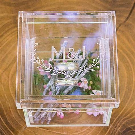 Woodland Pretty Personalized Acrylic Wedding Ring Box