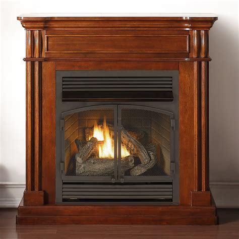duluth forge dual fuel vent free fireplace with autumn