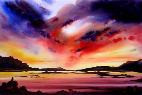 water color sunset easy watercolor paintings of sunsets arts