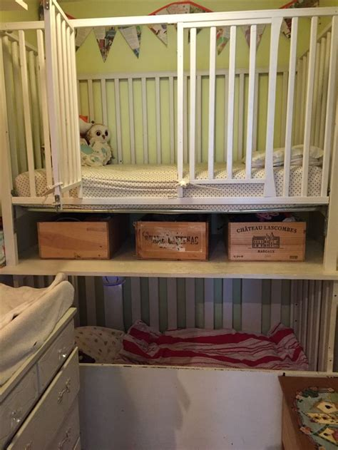 baby crib bunk beds 25 best ideas about bunk bed crib on small