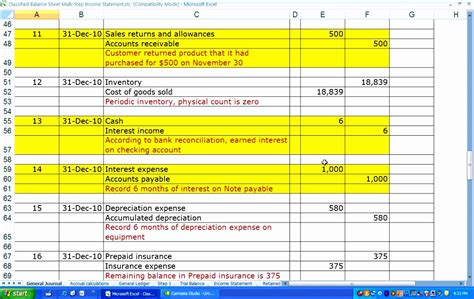 multi step income statement template excel 10 multi step income statement excel template