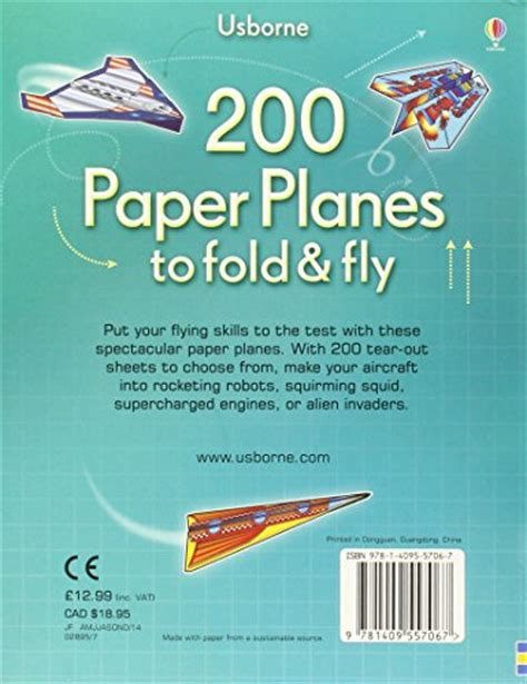 Fold And Fly Paper Planes - libro 200 paper planes to fold and fly di various